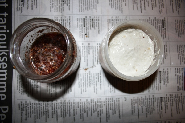 homemade face mask and body scrub